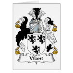 Vilant Family Crest Greeting Card