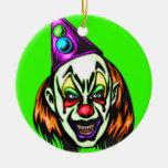 Vile Evil Clown Ornaments