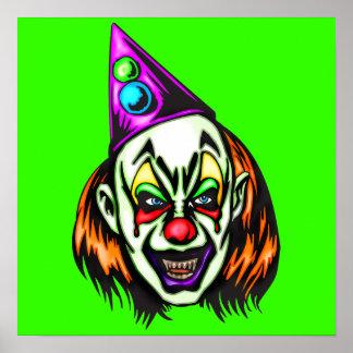 Vile Evil Clown Poster
