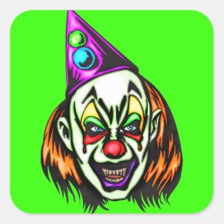 Vile Evil Clown Square Sticker