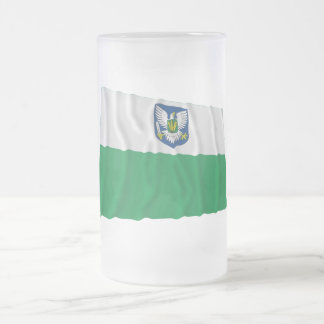 Viljandi Waving Flag Frosted Glass Beer Mug