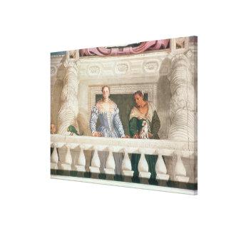 Villa Barbaro. Lady and Nurse on the Balcony Canvas Print