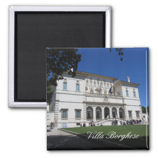 Villa Borghese, Rome, Italy 2 Inch Square Magnet