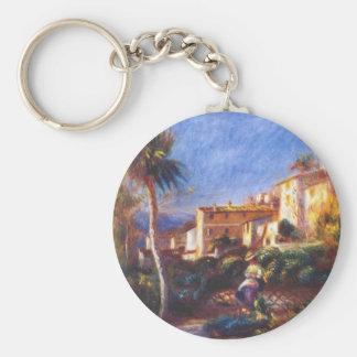 Villa de la poste at cagnes Pierre-Auguste Renoir Basic Round Button Keychain