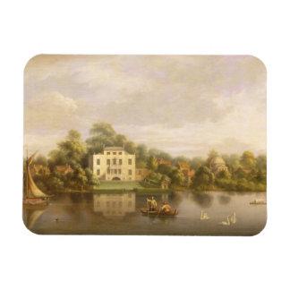 Villa de papa, Twickenham, c.1765 (aceite en lona) Imanes Flexibles