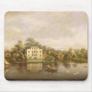 Villa de papa, Twickenham, c.1765 (aceite en lona) Mousepads