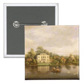 Villa de papa, Twickenham, c.1765 (aceite en lona) Pin Cuadrado