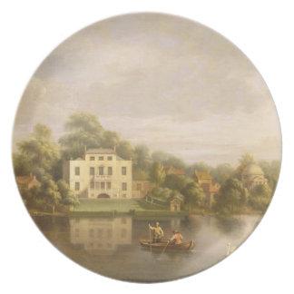 Villa de papa, Twickenham, c.1765 (aceite en lona) Platos