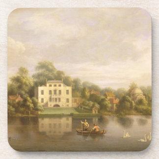 Villa de papa, Twickenham, c.1765 (aceite en lona) Posavasos De Bebidas
