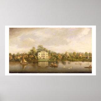 Villa de papa, Twickenham, c.1765 (aceite en lona) Póster