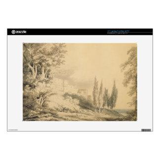 """Villa d'Este, c.1796 (blue & grey wash over graphi 15"""" Laptop Decal"""