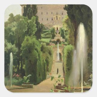 Villa D'Este, Tivoli, 1869 Square Sticker