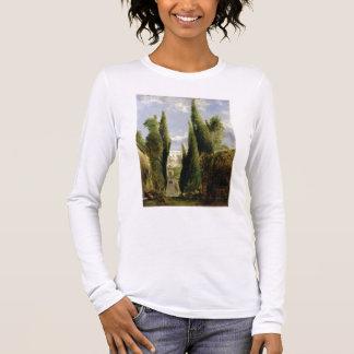 Villa D'Este, Tivoli (oil on canvas) Long Sleeve T-Shirt