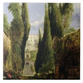 Villa D'Este, Tivoli (oil on canvas) Tile