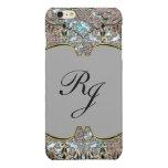 Villa Dove Baroque French Monogram plus Glossy iPhone 6 Plus Case