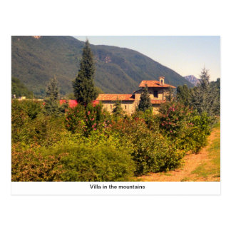 Villa in the mountains postcard