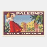 Villa Lincoln (Palermo - Italy) Pegatina Rectangular