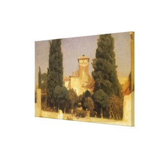 Villa Malta, Rome by Lord Leighton Canvas Print