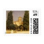 Villa Malta, Rome, Leighton, Vintage Victorian Art Stamp