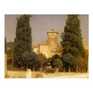 Villa Malta, Rome, Leighton, Vintage Victorian Art Postcard
