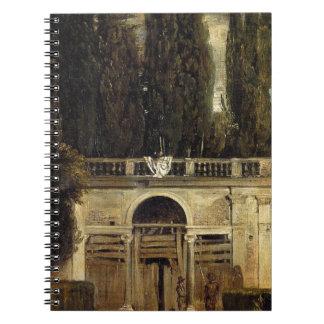 Villa Medici in Rome by Diego Velazquez Notebook