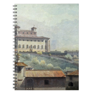 Villa Medici, Rome, c.1776 (oil on paper) Notebook