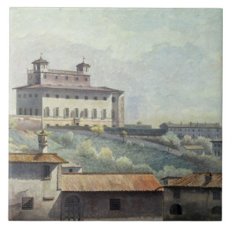 Villa Medici, Rome, c.1776 (oil on paper) Tile