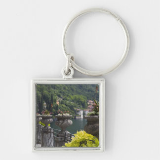 Villa Monastero, gardens and lakefront, Varenna, Silver-Colored Square Keychain