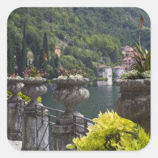 Villa Monastero, gardens and lakefront, Varenna, Square Sticker