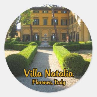 Villa Natalia Florence Italy Classic Round Sticker