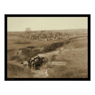 Villa of Brule Indian Lakota Tipi Camp SD 1891 Poster