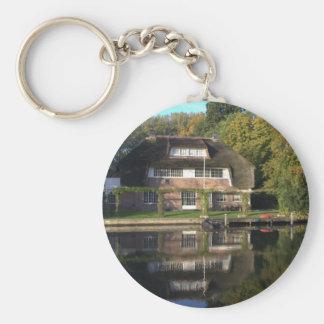 Villa on the Vecht river Basic Round Button Keychain