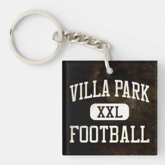 Villa Park Spartans Football Double-Sided Square Acrylic Keychain