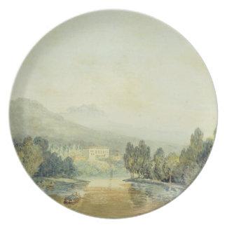 Villa Salviati on the Arno, c.1796-97 (w/c on penc Melamine Plate