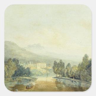 Villa Salviati on the Arno, c.1796-97 (w/c on penc Square Sticker