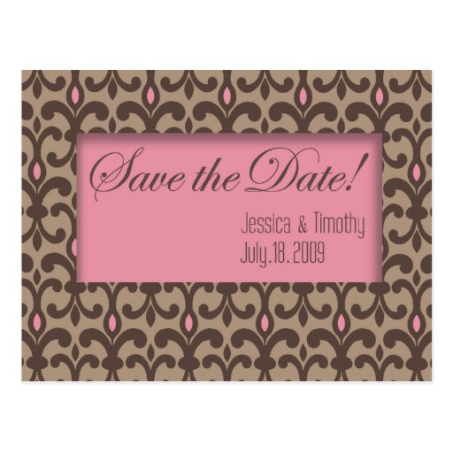 Villa - Save the Date Card (custom design: Rose) Postcard