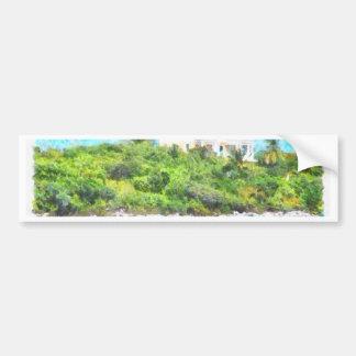 Villa set in greenery in the Bahamas Bumper Sticker