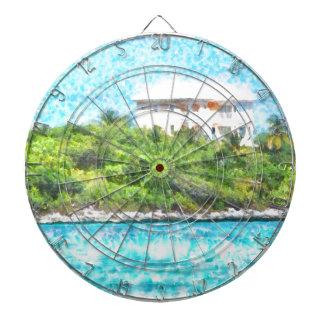 Villa set in greenery in the Bahamas Dartboard