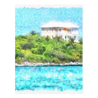 Villa set in greenery in the Bahamas Postcard