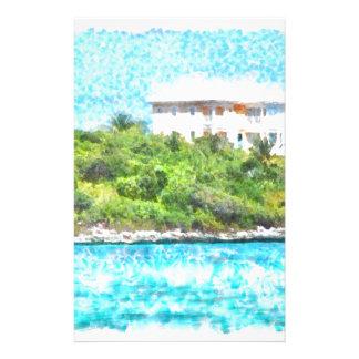 Villa set in greenery in the Bahamas Stationery