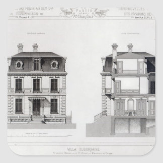 Villa Suburbaine, Premier Chasse at St. Cloud Square Sticker