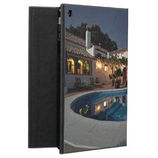 Villa Themed, A Villa Courtyard With Pool At Night iPad Air Case