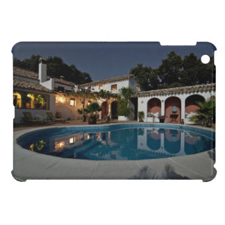Villa Themed, A Villa Courtyard With Pool At Night iPad Mini Cases