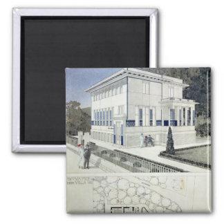 Villa Wagner, Vienna 2 Inch Square Magnet