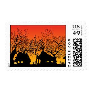 village_2 postage stamps