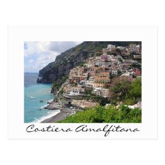 Village at the Amalfi coast white postcard