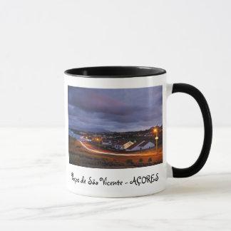 Village at twilight mug