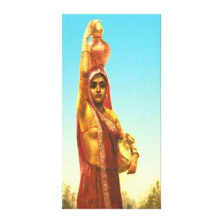 Village Belle Raja Ravi Varma Canvas Print