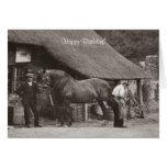 Village blacksmith birthday card