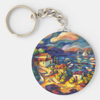 Village by the Sea Keychain